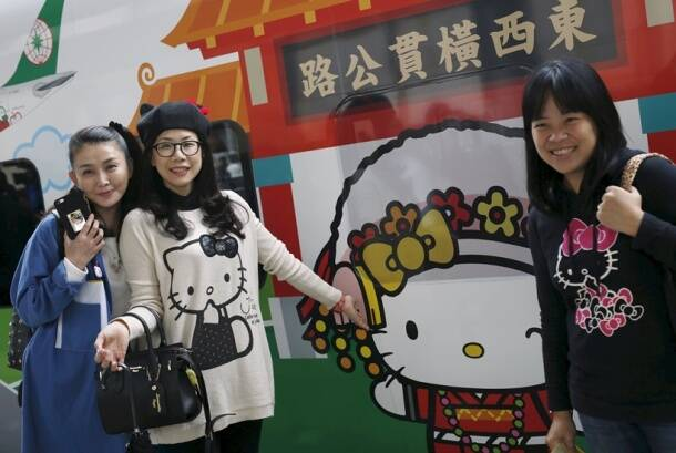 Now, take a ride on the new Hello Kitty train