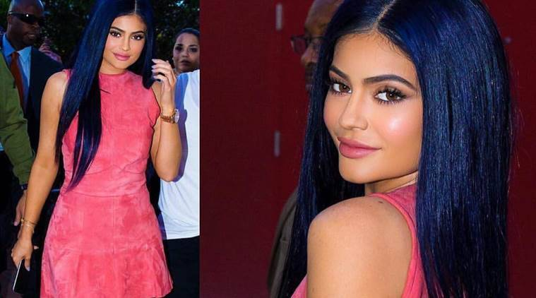Kylie Jenner Debuts Navy Hair The Indian Express