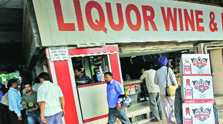 A liquor shop in Chandigarh.  Express Archives