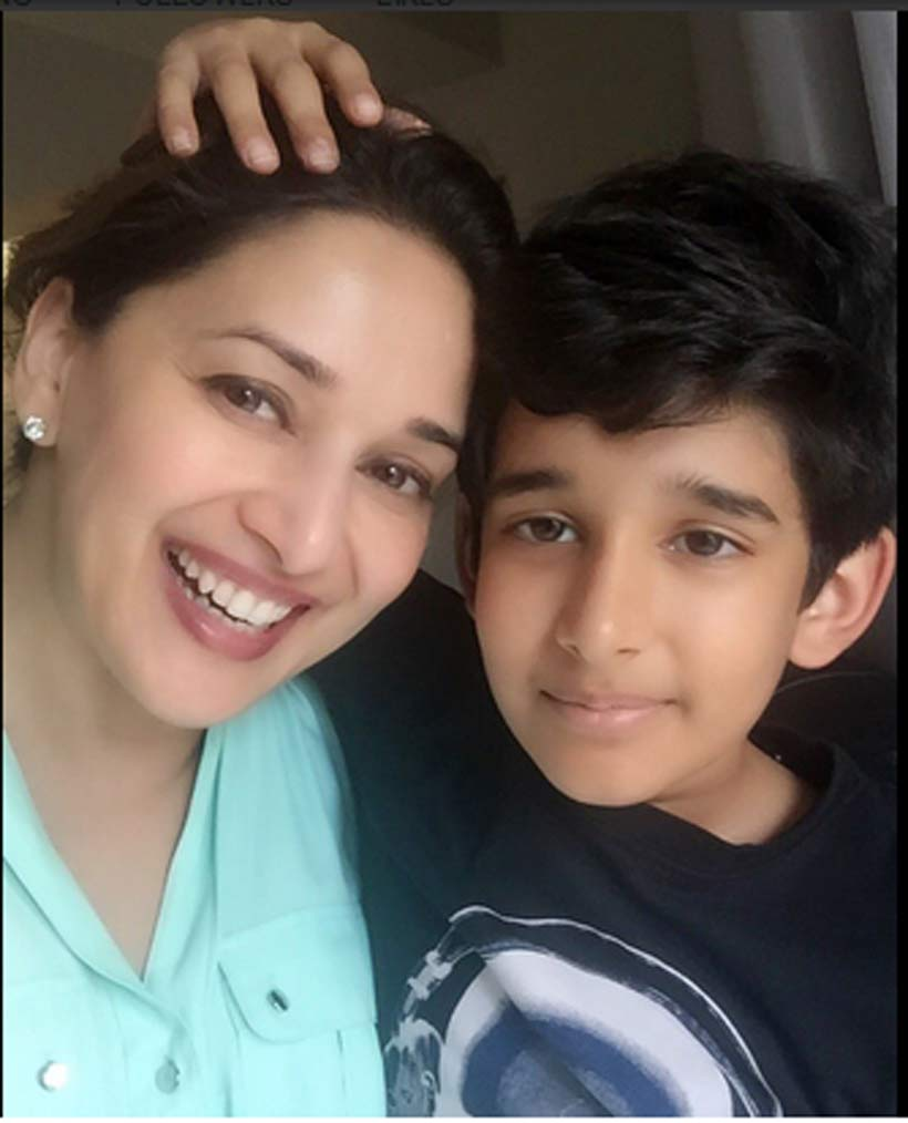 Madhuri Dixit's younger son Ryan turns 11, a few pics of