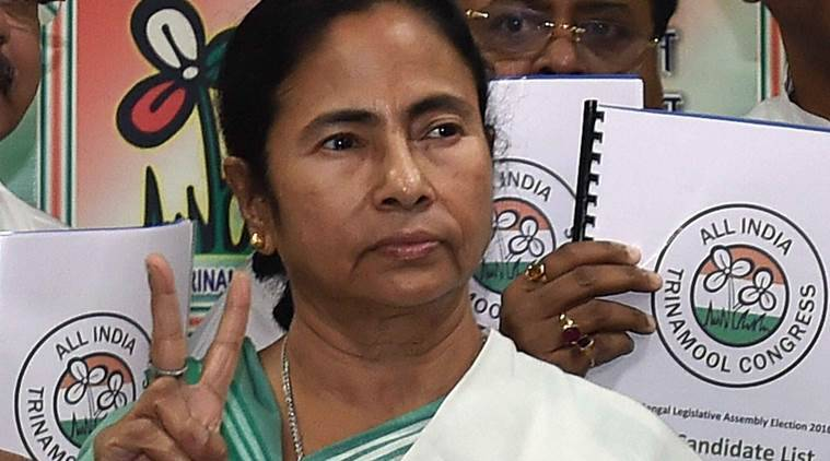 Kolkata: West Bengal Chief Minister and Trinamool Congress Supremo Mamata Banerjee during the release of the party's list of candidates for the upcoming Assembly elections, in Kolkata on Friday. PTI Photo(PTI3_4_2016_000230A)