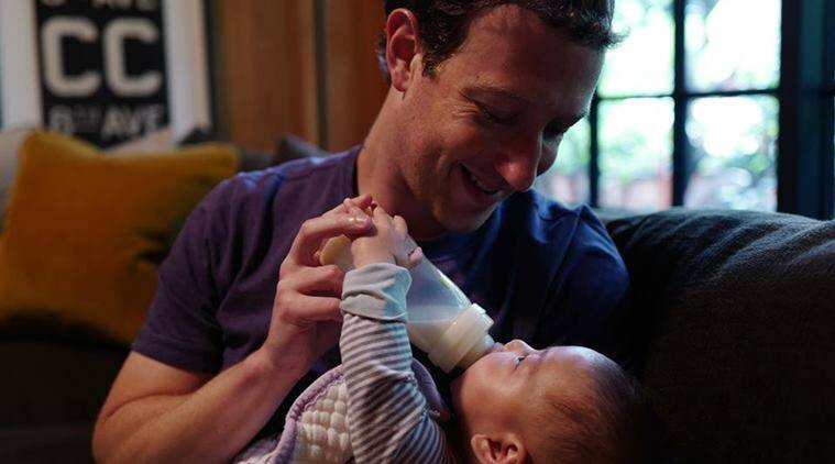 Mark Zuckerberg, Max Zuckerberg, Mark Zuckerberg baby, Mark Zuckerberg father, Mark Zuckerberg paternity leave, MArk Zuckerbern paternity leave pictures, Max Zuckerberg pictures, Mark Zuckerberg and Max Zuckerberg, Sheryl Sandberg, Lean in, #LeanInTogether, paternity leave, gender equality in workplace