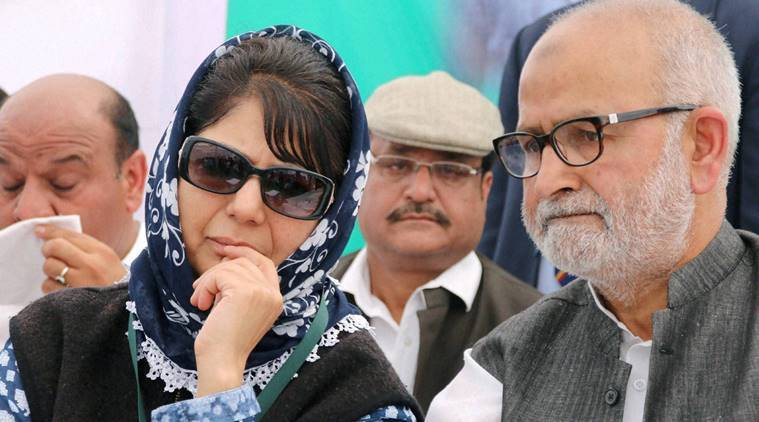 Jammu: Peoples Democratic Party (PDP) President Mehbooba Mufti during a membership drive of the party in Jammu on Friday. PTI Photo (PTI3_4_2016_000205B)