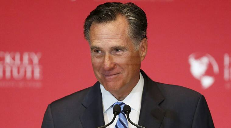 Former Republican U.S. presidential nominee Mitt Romney pauses and smiles as he delivers a speech criticizing current Republican presidential candidate Donald Trump at the Hinckley Institute of Politics at the University of Utah in Salt Lake City, Utah March 3, 2016.   (REUTERS/Jim Urquhart      )