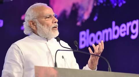 Modi invites investment in  Railway, energy, agri and health, answers many questions from GST to infra at Saudi business panel meet - The Indian Express