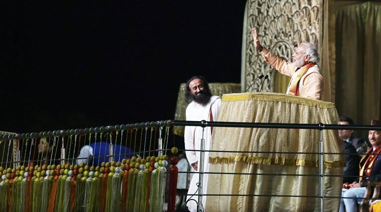 Narendra Modi, Sri Sri Ravi Shankar, World Culture Festival, Art of living