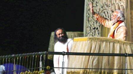 If we damn ourselves, why will world take note of us: PM Modi on Sri Sri's stage