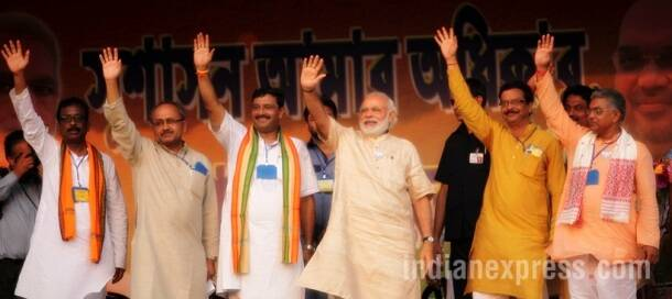 West bengal, narendra modi, modi bengal rally, west bengal polls, west bengal elections, 2016 bengal election, modi in bengal, elections 2016, West Bengal assembly elections, Narendra Modi Kharagpur rally, Bjp rally, India news, latest news, indian express