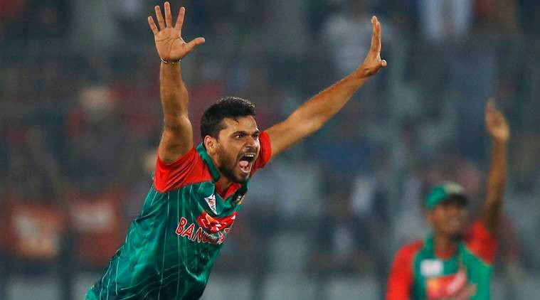 Mashrafe Mortaza, Mortaza four wickets, Dhaka Premier League, Abahani Limited, Bangladesh, cricket, indian express