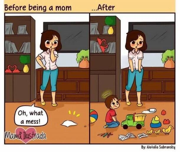In 19 pictures, this illustrator shows what it feels to be a mom