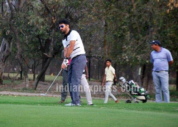MS Dhoni, MS Dhoni India, MS Dhoni Golf, Dhoni golf, Rohit Sharma, Ravi Shastri, Indian cricket team, Team India, Cricket, Dhoni golf photos
