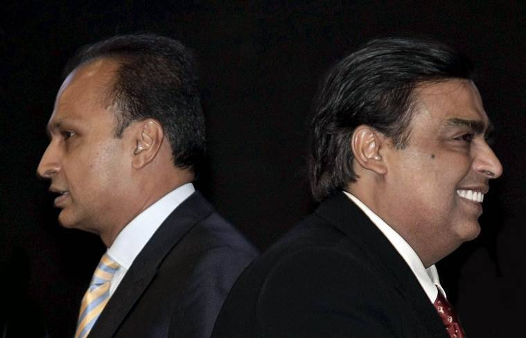 Ambani brothers - Anil and Mukesh.