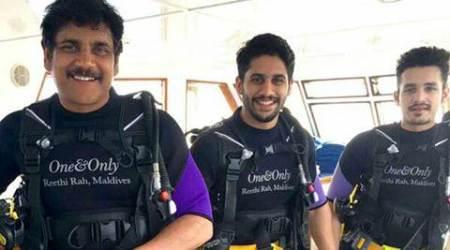 Akkineni Nagarjuna goes scuba diving with sons inMaldives