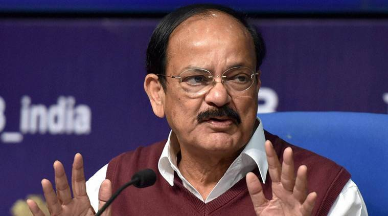 New Delhi: Minister of Urban Development M.Venkaiah Naidu addresses a press conference 'Smart City' project in New Delhi on Thursday. PTI Photo by Kamal Singh (PTI1_28_2016_000130A)