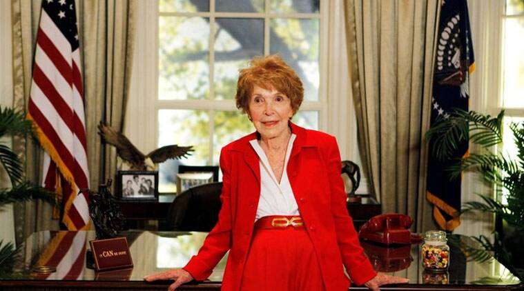 nancy regan, nancy regan death, ronald regan, nancy regan dies, former first lady death, world news, news latest news