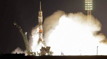 US and Russian crew arrives at spacestation
