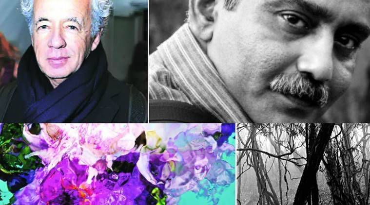 (Clockwise from above left) Gilles Bensimon; Swapan Nayak; Bensimon's meditative black-and-white photo; Nayak's blossoms of colour
