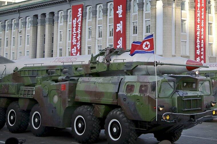 North Korea is believed to have at least 6 KN08 ballistic missiles with a range of over 3,400 miles. AP Photo
