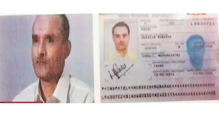 A TV grab of Kulbhushan Jadhav and his passport. PTI