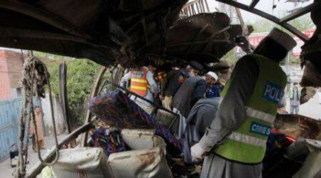 Pakistan blast: Powerful bomb rips through bus in Peshawar, 16 killed