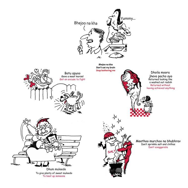 Parsi Bol 2, which is the second updated edition of a compilation of Parsi Gujarati phrases, has illustrations by Hemant Morparia and Farzana Cooper.