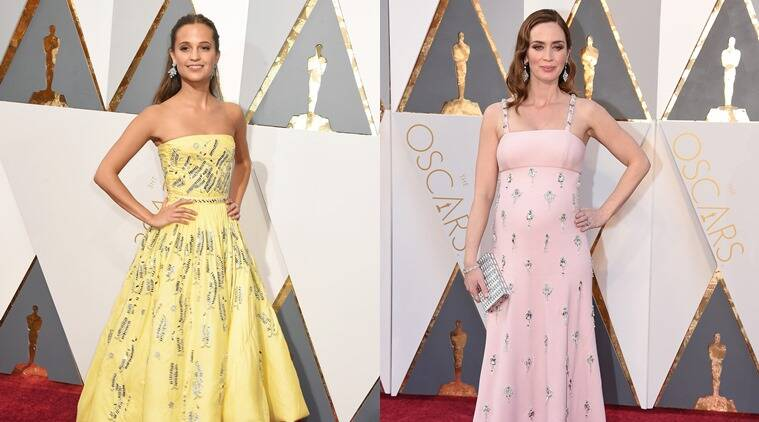 From L to R: Alicia Vikander and Emily Blunt. (Photo: AP)
