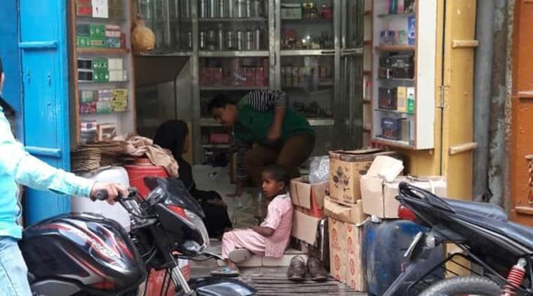 An attar shop in Bada Bazaar in Kannauj. (Photo: Faisal Fareed)