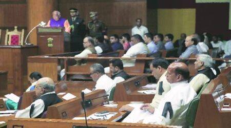 Haryana Assembly budget session Ruckus after Cong MLAs suspended for 'disrupting' Governor's address