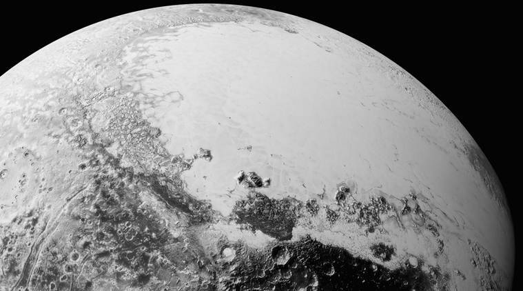 Pluto from above Cthulhu Regio (Source: NASA)