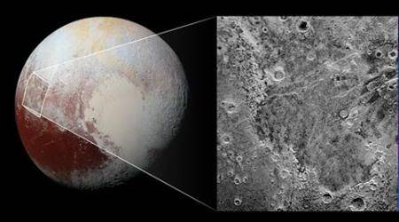 NASA discovers what looks like a giant 'bite mark' on Pluto'ssurface