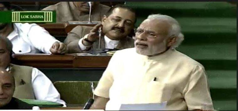 Prime Minister Narendra Modi in Lok Sabha on Thursday.