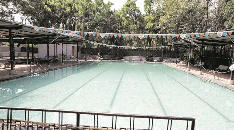 swimming pools afloat in parched times raise eyebrows the indian express