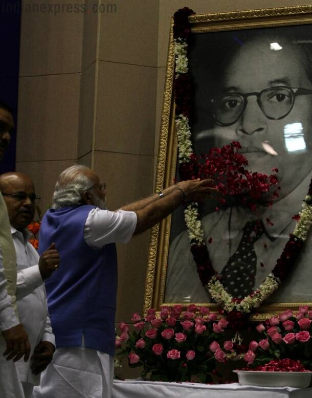 Photos: PM Modi lays foundation stone for Ambedkar National Memorial in Delhi