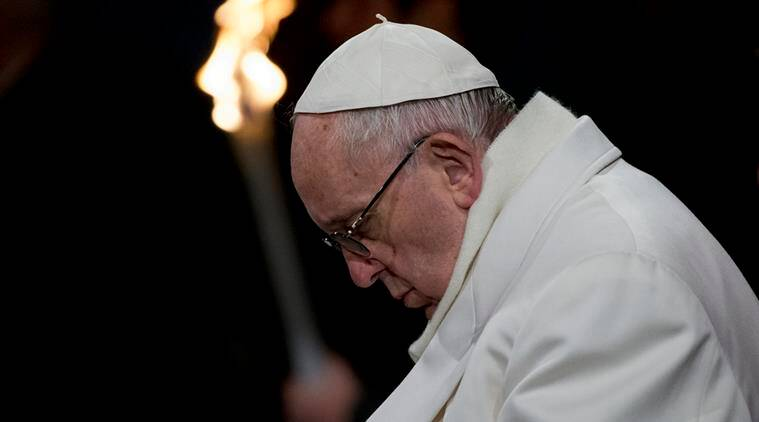 pope francis, pope, pope meets migrants, pope migrants, pope muslim migrants, good friday, pope on brussels attack, pope meet muslim migrants, francis pope news, world news, latest news