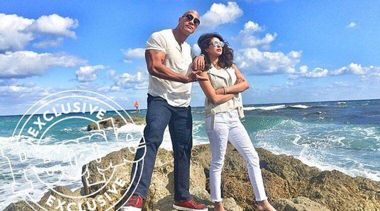 Priyanka Chopra, Dwayne Johnson, Baywatch, Priyanka Chopra Dwayne Johnson, Priyanka Chopra Baywatch, Priyanka Chopra Baywatch look, Priyanka Chopra in Baywatch, Entertainment news