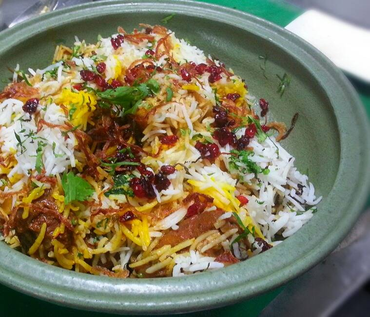 Mutton Berry Pulao at Cafe at the NCPA, in Mumbai.