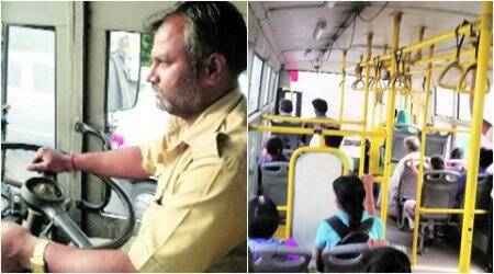 Passengers of PMPML bus number 153 get a nerve wracking ride