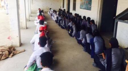 Lack of space in Punjab schools forces Class 8 students to sit for exams in courtyard