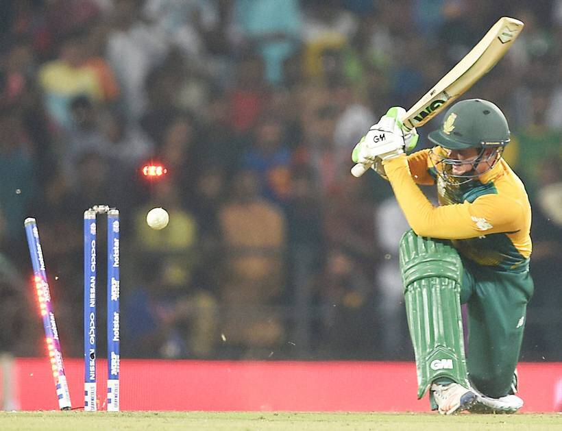 Quinton de Kock, Andre Russell, de Kock, Russell, West Indies South Africa pictures, World Twenty20 photos, cricket photos