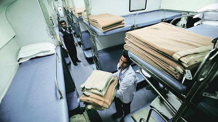 Image result for Bed linen, towels ac trains