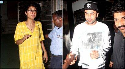 ranbir kapoor, kiran rao, farhan akhtar, ranbir, ranbir kapoor pics, ranbir pics, kiran rao pics, ranbir kapoor photos, ranbir kapoor with fans, entertainment