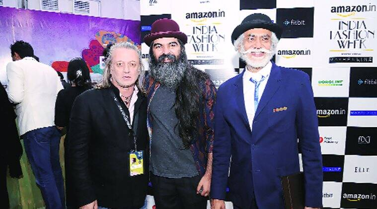 (From left) Rohit Bal, Suket Dhir and Sunil Sethi