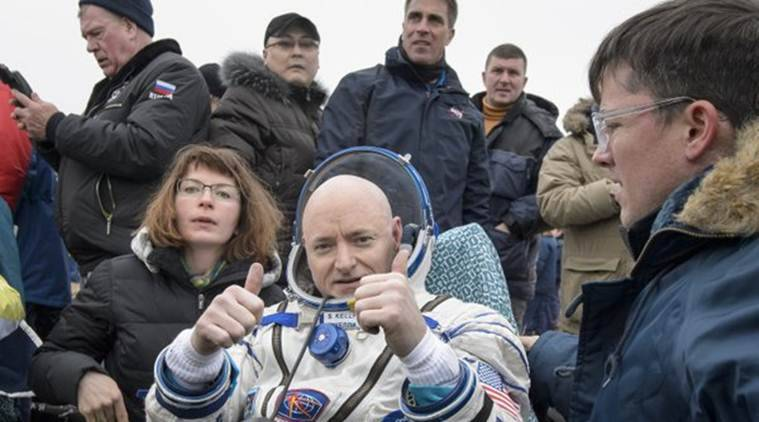 NASA astronaut Scott Kelly has decided to hang up his boot after spending a year in space (Source: AP)