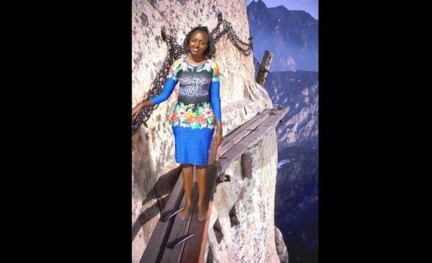 Sevelyn Gat in China, Sam Gichuru, seve gat, Sevelyn Gat, kenyan girl photoshops photos, #WhereIsSeveGatsNow,
