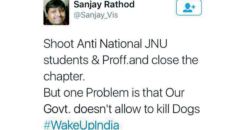 Sanjay Rathod's controversial tweet.