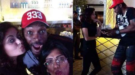Sneha Ullal parties with WI batsman Chris Gayle ahead of T20 World Cup tournament; sharespictures