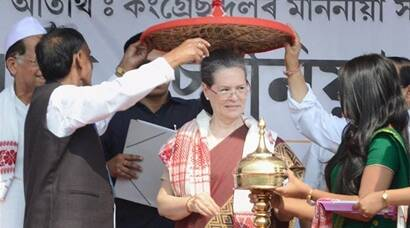 Sonia Gandhi on campaign trail in Assam