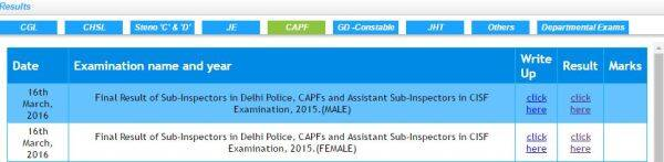 ssc cpo, ssc cpo si 2015 result, ssc.nic.in, ssc cpo si asi final result 2015, ssc cpo si 2016, SSC CAPF CISF Results 2015, SSC CAPF CISF Results 2016, SSC CPO SI ASI Final Result 2015, SSC CPO SI ASI Final Result 2016