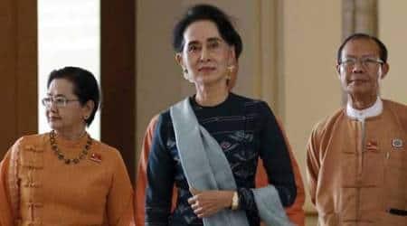 Myanmar, suu kyi, myanmar talks, myanmar rebel talks, myanmar govt rebel talks, myanmar military rule, myanmar rohingya muslims, suu kyi rohingya muslims, myanmar news, world news, asia news, latest news, aung san suu kyi, suu kyi, myanmar cabinet, myanmar parliament, myanmar ministers, myanmar new ministers, myanmar news, world news