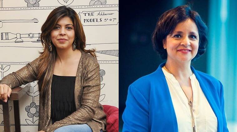 From L to R: Tanaaz Bhatia and Nina Lekhi. (Photo of Nina Lekhi: Facebook)